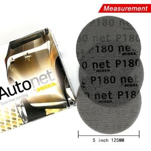 Image 5 - 50 Stks/doos 5 Inch 125Mm Schuurpapier Autonet Mesh Schuurschijven Stofvrij Anti Blocking 80/120/180/240/320 Grits Voor Hout Schuren