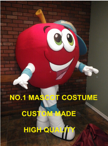 Большой красный Apple мальчик костюм талисман для взрослых размеры на заказ с рисунками фруктов тему аниме Cosply карнавальные костюмы нарядное