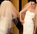 In Stock Bridal Hair Veils Adult 3 Layers Wedding Veil White Color Tulee For Bride velos de novia