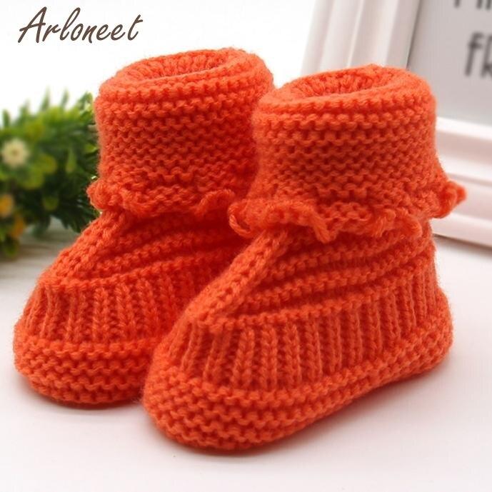 Обувь Детское вязание Кружево вязание крючком обувь Дети Твердые согреться детская обувь Впервые Уокер dec15