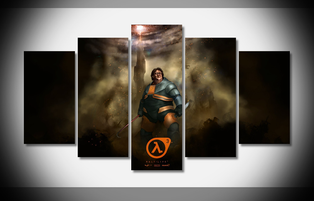 6726 half life 3 game poster Framed Gallery wrap art print home wall decor wall picture Already to hang digital print wholesale