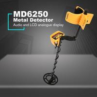 MD6250 Professional Portable Underground Metal Detector Handheld Treasure Hunter Gold Digger Finder Pinpoint Function