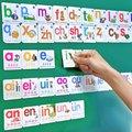 Магнитные китайские детские карточки для книг, Обучающие китайские слова с пиньинь книги для детей, цветные художественные обучающие книги