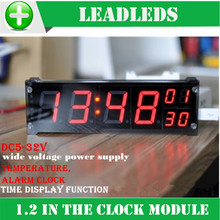 DIY Automobile motorcycle led display Digital precision clock module led luminous electronic clock with temperature alarm clock