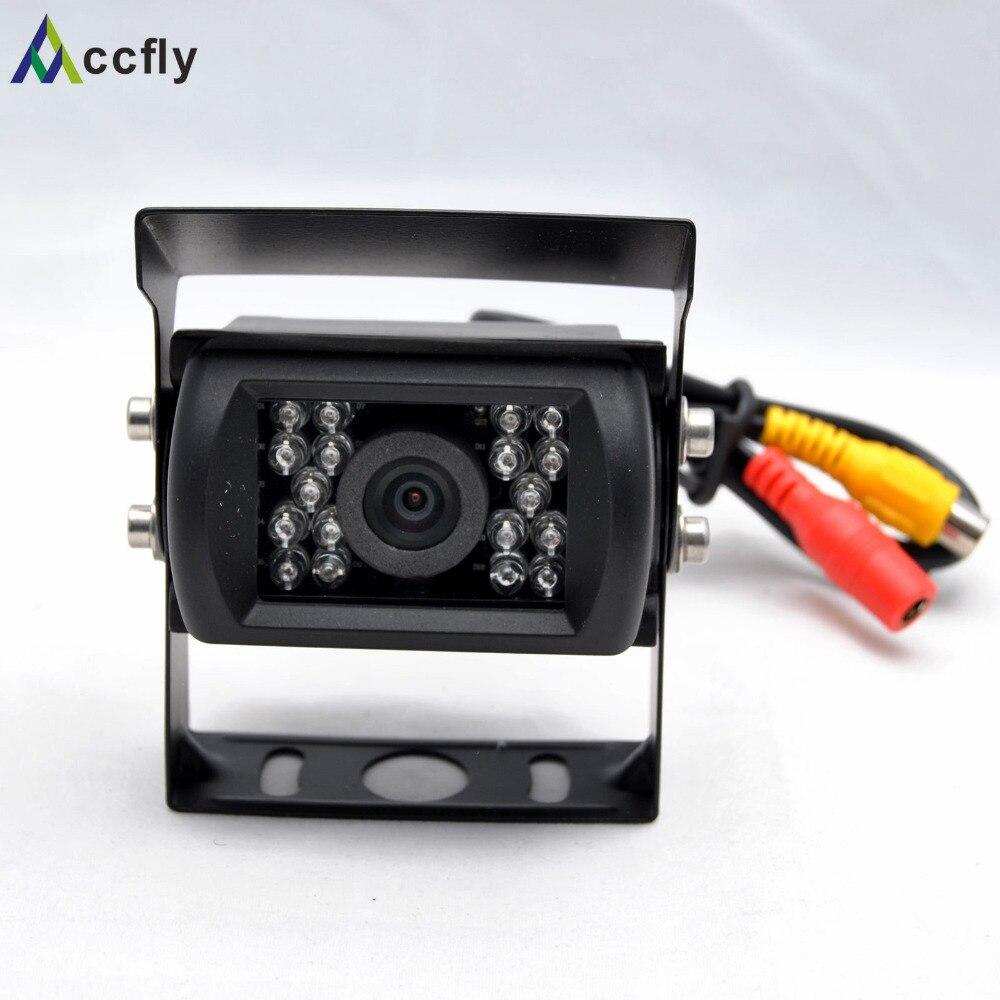 Accfly 12V 24V HD CCD Car Rear View reverse Camera 120 dgeree for bus trucks Caravan Excavator RV Trailer camper