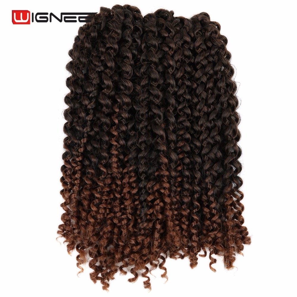 Wignee High Temperature Synthetic Fiber Crochet Twist Braiding Hair Extension For Women Goddess Freetress Marly Fake Hair Pieces