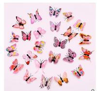 wholesale factory outlet 6cm simulation butterfly apparel accessories three dimensional home decoration 3D refrigerator wa world
