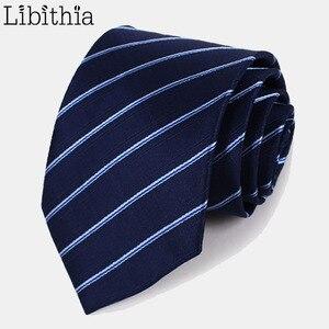 Мужские галстуки в полоску в горошек, однотонный цвет, розовый, фиолетовый, синий, черный, темно-синий