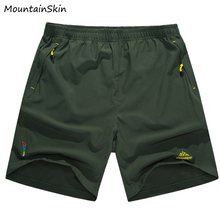 Mountainskin  5XL Men's Summer Quick Dry Shorts Fashion Male Breathable Beach Male Short Casual Branded Men Clothing LA197