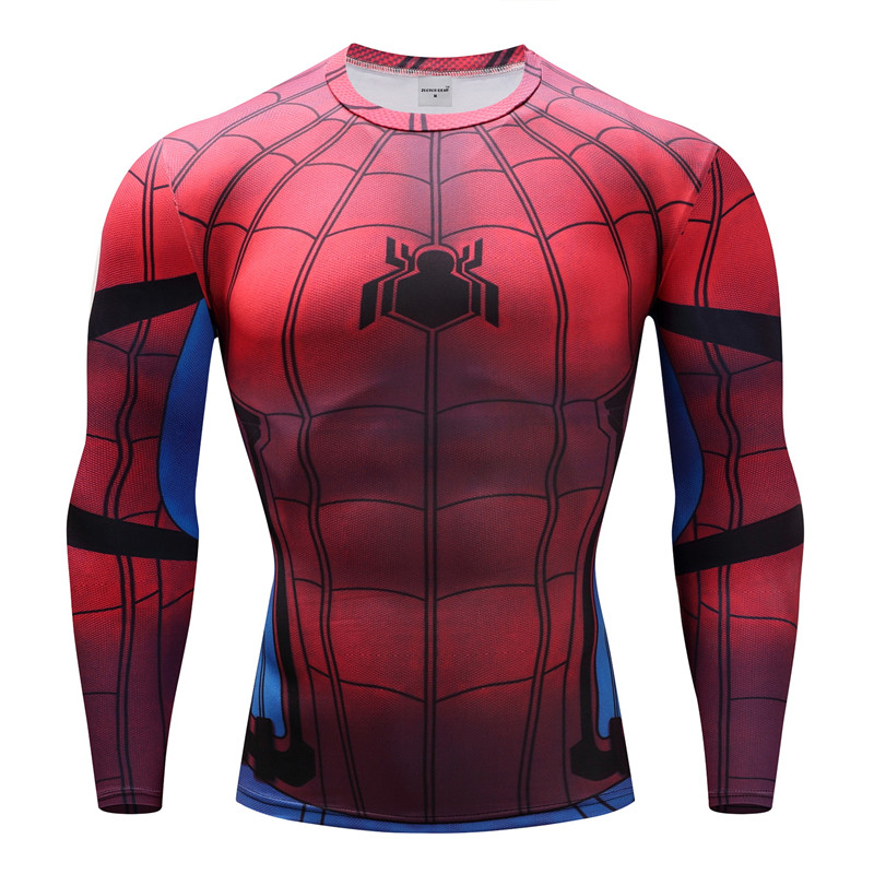 Spiderman T shirts Men Compression T-shirts Fitness Spider Man T-shirts  Bodybuilding Top Hot Sale Crossfit rashguard Brand 38c0820ba