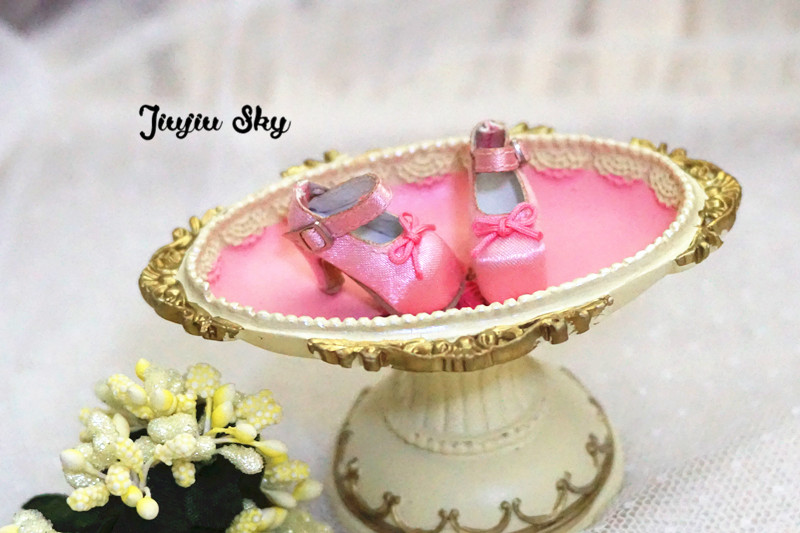 Free shipping Bow high heels Doll shoes,Doll clothes,doll accessories for Blythe licca Azone Dal momoko Lati JB girl play house