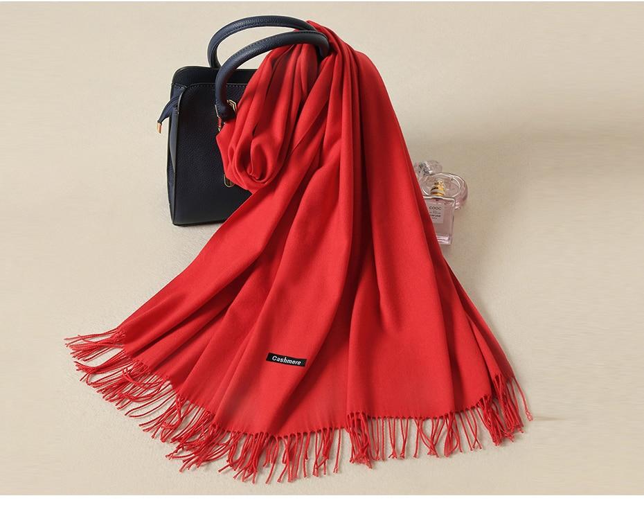 424b0c41aff57 Pashmina Cashmere Scarf Shawl Foulard Femme Stole Neck Cotton Wool ...