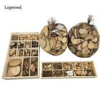 Logwood 30-50 pçs bebê diy brinquedo natureza madeira arte & artesanato artesanal criar brinquedo de madeira originalidade educacional de madeira para presente das crianças