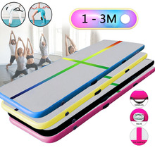 1/2/3m Air Track Tumbling Inflatable Bouncer Gymnastics Floor Trampoline with Air Pump for Home Use/Training/Beach Dropshipping