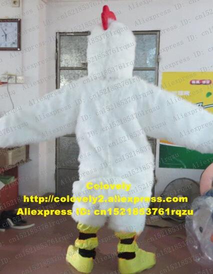 Weiß Huhn Chook Hahn Hahn Henne Küken Maskottchen Kostüm Erwachsene Cartoon Charakter Begrüßen Die Gäste Schönheit Parlor zz5505