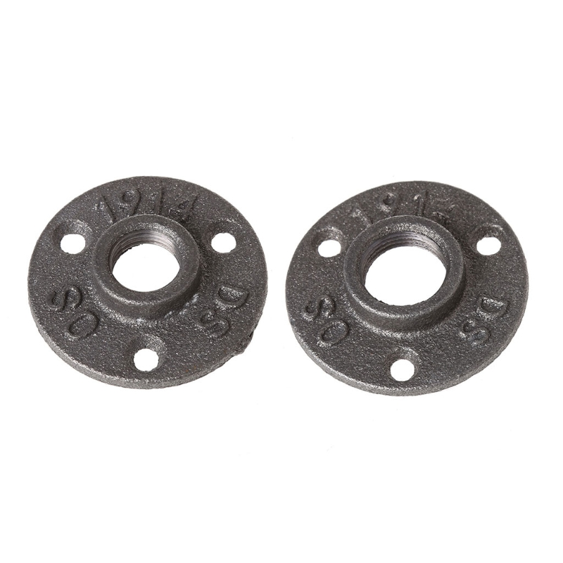 Home Improvement 1/2 Malleable Thread Floor Flange Iron Pipe Fittings Wall Mount Industrial #0604 Flanges