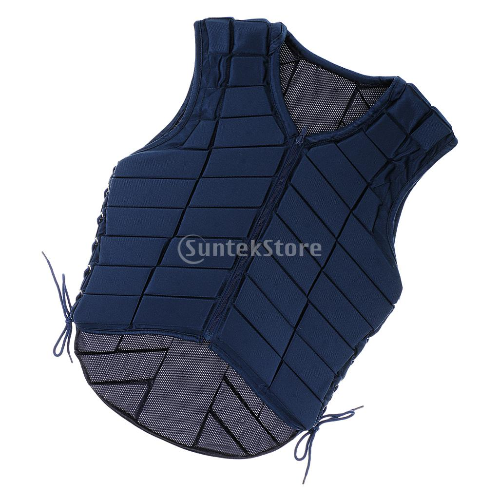 Safety Equestrian Horse Riding Vest Protective Body Protector Navy Adult adjustable pro safety equestrian horse riding vest eva padded body protector s m l xl xxl for men kids women camping hiking