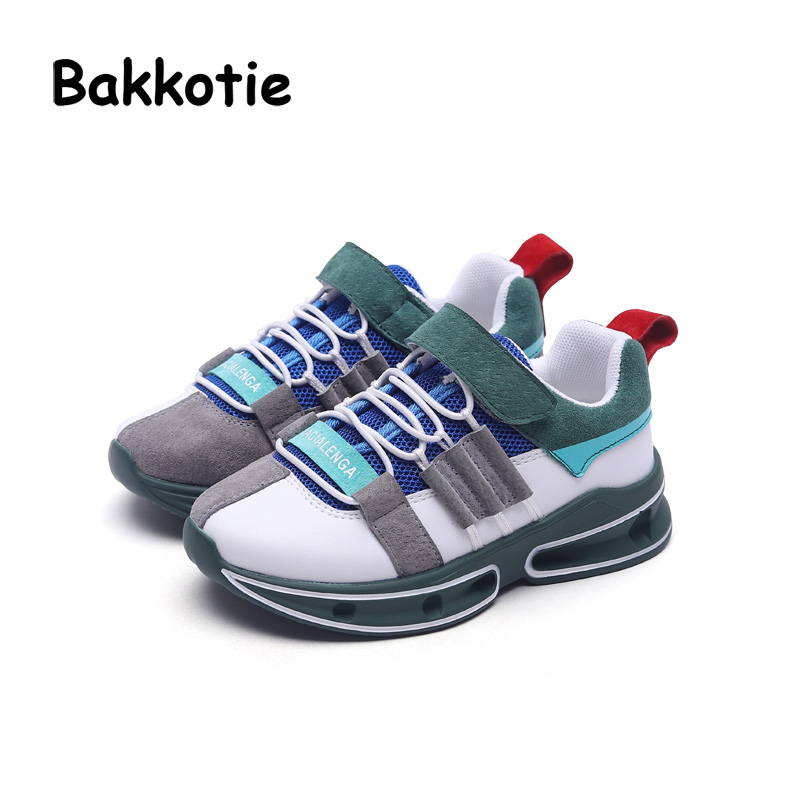 Bakkotie 2018 Autumn Fashion Baby Boy Genuine Leather Mesh Shoes Child Casual Sneakers Kid Sport Shoes Girl Brand Shoes Trainer bakkotie 2018 spring fashion baby boy mesh shoes children casual sneakers kid black sport shoes girl slip on shoes trainer