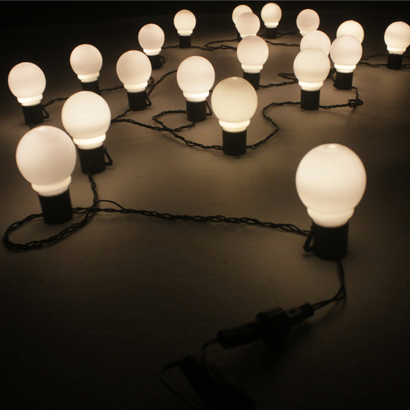 5cm Big Ball LED Christmas lights Decoration Outdoor Wedding Lights Garland Garden Decorative Light New Year Room Light String