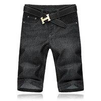 Brand Mens Blue Denim Shorts Men Jeans Summer Mens Fat Big Code Shorts Size 30 31