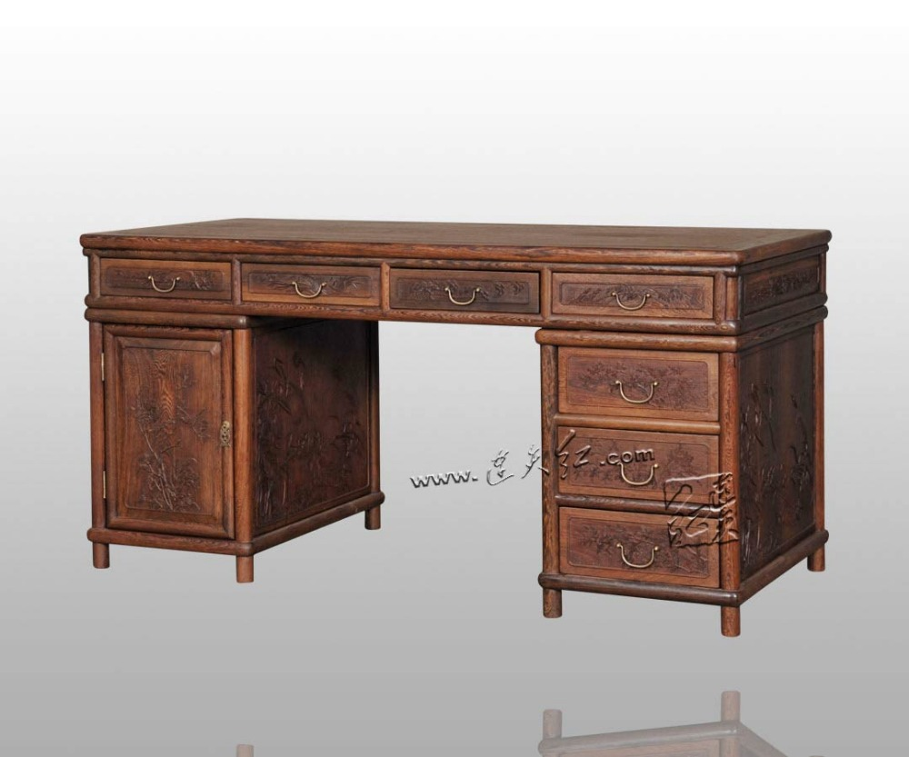 Living Room Computer Desk Burma Rosewood Rectangle Book Tables Carved Wooden Furniture Solid Wood Antique Writing executive Desk diesel diesel x03021 p0409 h1669