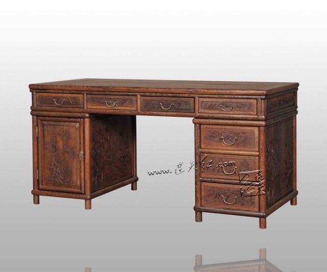 Wohnzimmer Computer Schreibtisch Burma Palisander Rechteck Buch Tische  Geschnitzte Holzmöbel Massivholz Antiken Schreiben Executive Schreibtisch