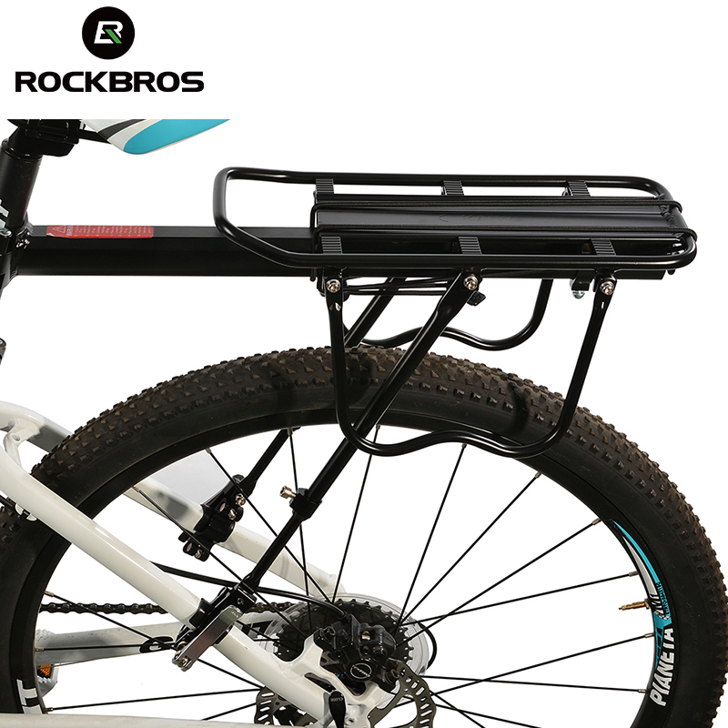 ROCKBROS Bicycle Carrier Bike Luggage Cargo Rear Rack Aluminum Alloy MTB Bike Shelf Cycling Saddle Bags Holder Stand Support rockbros bicycle rack bag full waterproof high capacity mountain bike accessories cycling rear basket panniers bike luggage bags