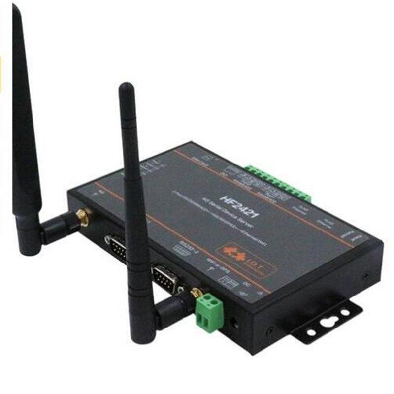 CE 1 pcs/paquet Wifi module serveur de périphérique série RS232 RS485 RS422 à Ethernet Wifi 4G 3G GPRS convertisseur de réseau HF2421 connecteur