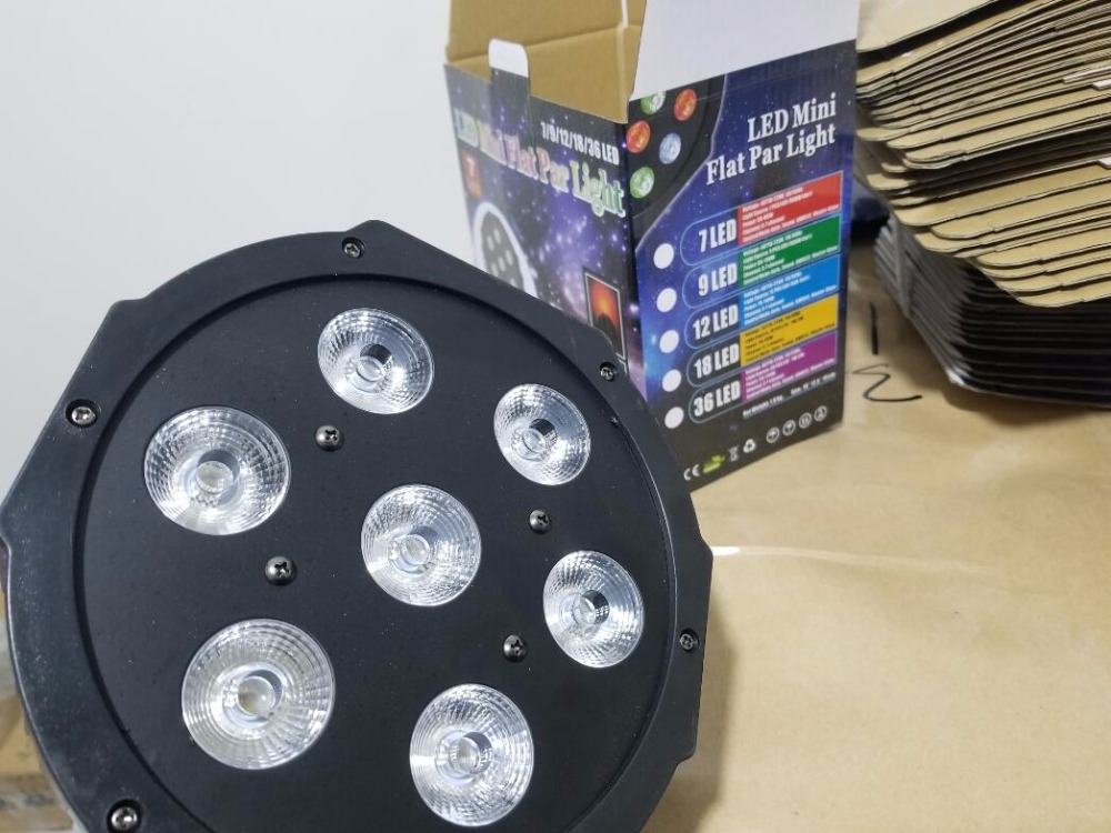 все цены на CREE RGBW 7x18W LED Flat SlimPar RGBWA UV Light 6in1 LED DJ Wash Light Stage dmx light lamp 6/10 channes
