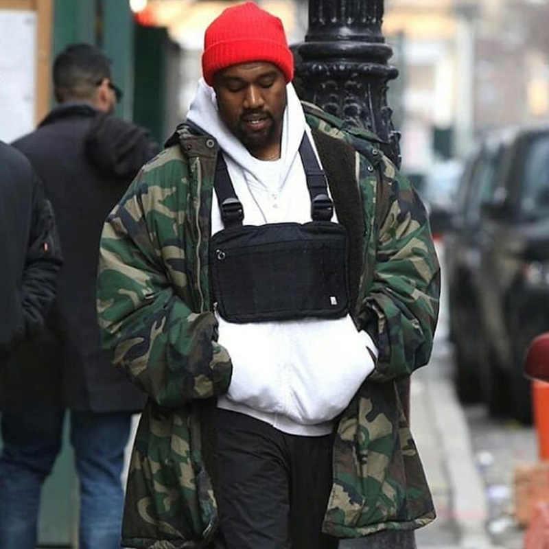 Fashion Dada Rig Pria Hip Hop Streetwear Kasual Fungsional Taktis Tas Dada Kanye West Keren Anak Laki-laki Cross Tas Bahu