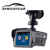 3 dans 1 Voiture DVR GPS 720 p HD Voiture Caméra enregistreur Laser Détecteur GPS Positionnement Route Trafic Avec la Voix Russe laser radar