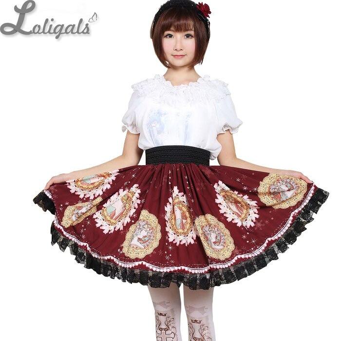 Jupe courte douce Kawaii Mucha lune déesse imprimé Lolita jupe courte quotidienne