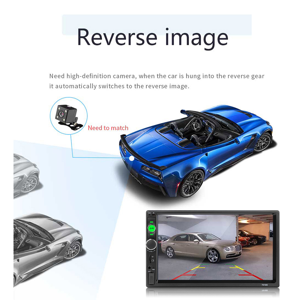 """Image 4 - AMPrime 2 din car radio 7"""" HD Player MP5 Touch Screen Digital Display Bluetooth Multimedia USB 2din Autoradio Car Backup Monitor-in Car Multimedia Player from Automobiles & Motorcycles"""