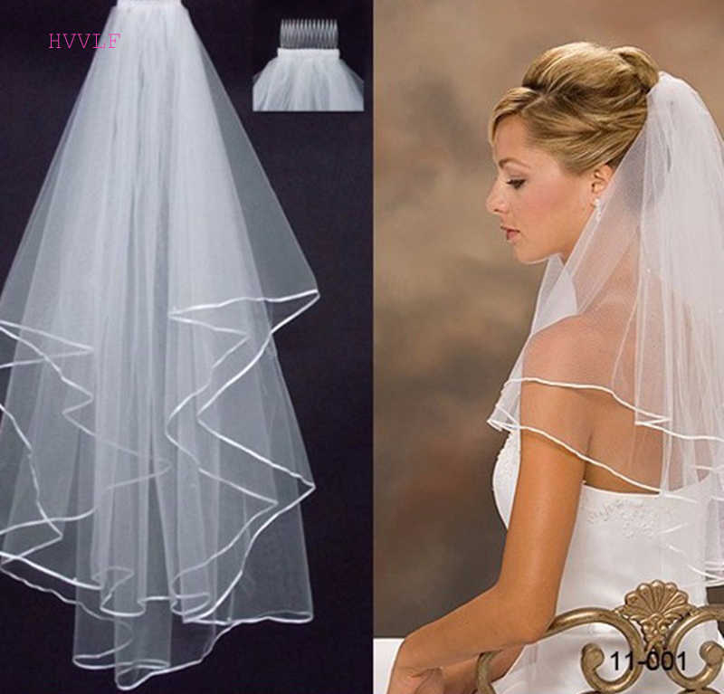 New Arrived Two Layer Bridal Veil Satin Edge Wedding Veil Wedding Accessories
