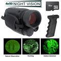 Frete grátis! 16 GB IR Night Vision Monocular 200 m Gama Leva Foto Vídeo DVR 4.5X40 + Bar aderência