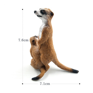 Image 4 - Simulation Cute Small Meerkat animal model plastic figure home decor figurine decoration accessories modern Gift For Kids toys