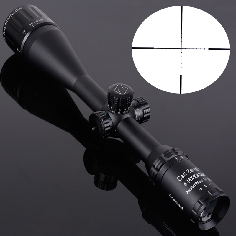 Carl Zeiss 4-16X50 White Letter Marking Optics Riflescope Red And Green Reticle Fiber Optic Sight Sniper Hunting Scope optics rifle scope carl zeiss 3 9x40 golden marking riflescope red and green dot illumination optics hunting sniper gear