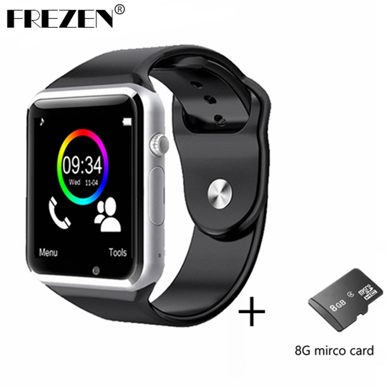 FREZEN Bluetooth Smart Watch A1 W8 WristWatch MTK6261D Sport Pedometer Sim Card Smartwatch For Android Smartphone