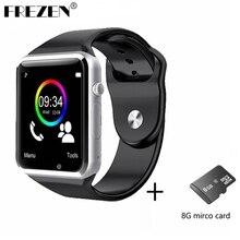 Bluetooth smart watch a1 reloj w88 mtk6261d deporte podómetro tarjeta sim smartwatch para android smartphone