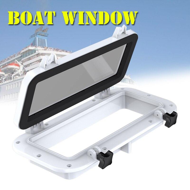 1 Pc 40x20 cm blanc bateau bateau Yacht voiture remplacement hublot rectangulaire étanche en caoutchouc joint puits de lumière couverture RV fenêtre pièces