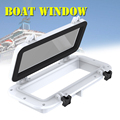 1 Pc 40x20cm WHITE Boat Ship Yacht Car Replacement Porthole Rectangular Waterproof Rubber Seal Skylight Cover RV Window Parts