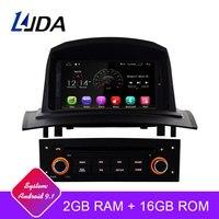 LJDA Android 9.1 Car DVD Player For Megane Fluence 2002 2008 Car Multimedia Player GPS Navigation WIFI 1 Din Car Radio Stereo