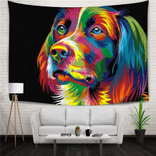 Cartoon Dog Painting Bedding Tapestry Living Room Bedroom Decor Wall Hanging Tapestries Christmas Party Room Ornament Curtain