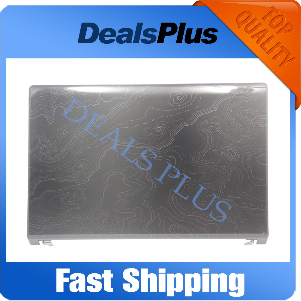 Replacement New Black Laptop LCD Back Cover Case A Shell with LCD Hinges For <font><b>DELL</b></font> 1555 1557 <font><b>1558</b></font> 0W413J image
