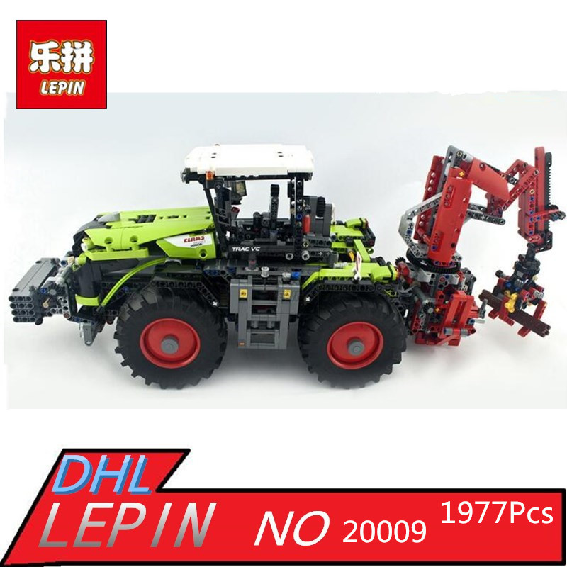 2017 New LEPIN 20009 1977Pcs Technic Xerion 5000 Tractor Vc Model Building Kits Blocks Bricks Compatible Toys Gift With 42054 new lepin 22001 pirate ship imperial warships model building kits block briks toys gift 1717pcs