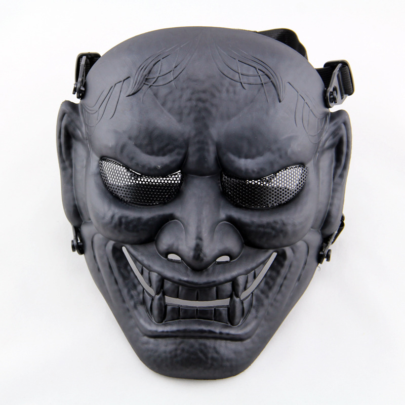 Tactical Mask Japanese Ghost King Airsoft CS Game Full Face Mask Party Cosplay Halloween Horror Hunting Protective Skull Masks hellboy mask breathable full face mask kroenen helmet halloween cosplay horror helmet karl ruprecht kroenen halloween props w153