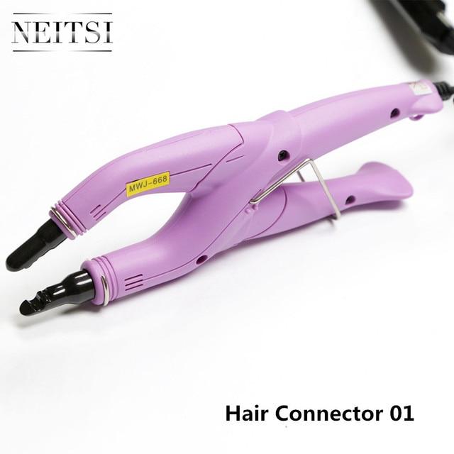 Neitsi connecteur de connexion de cheveux professionnel en fer, outils de coiffure, prise USA/EU/UK