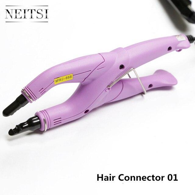 Neitsi profesjonalne połączenie włosów złącze Fusion żelazne narzędzia do stylizacji włosów wtyczka USA/EU/UK