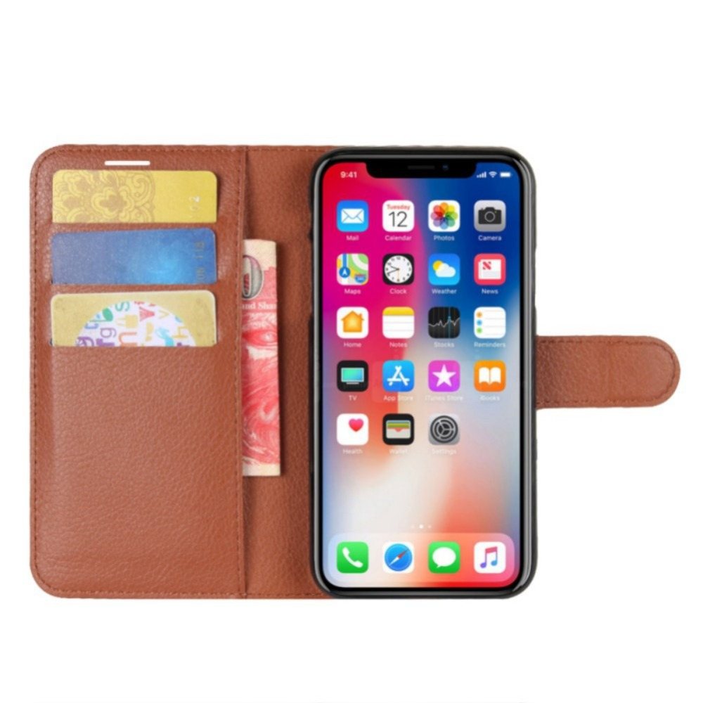 PU Leather Wallet Flip Case for Iphone X Retro Cover Phone Full Protector for Iphone 6 7 8 Plus