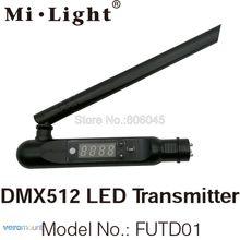 Светодиодный передатчик Milight FUTD01 DMX 512 2,4G беспроводной 3Pin XLR DMX512 приемник адаптер для дискотеки светодиодные сценические световые эффекты